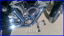 Harley Dyna Foot Pegs Forward controls Billet Aluminum Street Bob 06-2017 Black