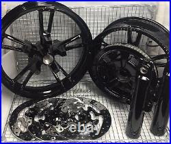 Harley Enforcer Wheels Glass Black 2014 -19 Flhr Fltr Street Glide (outright)