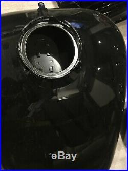 Harley touring paint set sheetmetal flhx street glide fenders gas tank flh black