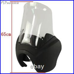 Headlight Front Outer Fairing & 15'' Windshield For Harley Dyna Street Bob FXDB
