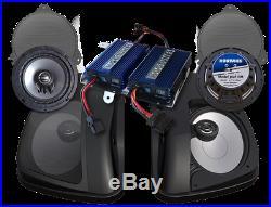 Hogtunes Dual Amplifier 400 Watt Speaker Kit For Harley Street Glide 2014-2017
