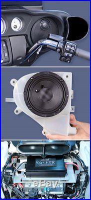 J&M Audio Rokker Extreme 2 Speaker & 350W Amp Kit 2014 & Up Harley Street Glide
