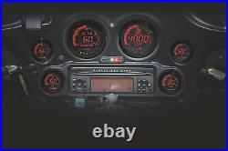 KOSO 2006-2013 Harley-Davidson FLHX Street Glide DIGITAL GAUGE CLUSTER BLK BEZEL