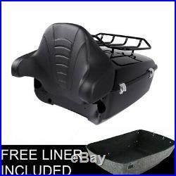King Tour Pak Pack Trunk withRack Backrest For Harley Street Road Glide 14-19 TCMT