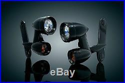 Kuryakyn Gloss Black Driving Lights 4 Harley Davidson Street Glide Electra Ultra