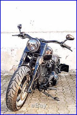 LED SCHEINWERFER 7 mit Standlicht +CE Harley Fat BOY Softail Street Glide SLIM