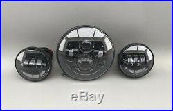 LED Scheinwerfer 7 + LED Zusatzscheinwerfer 4,5 E-Nummer Set