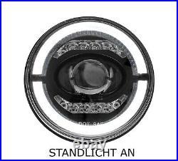 LED Scheinwerfer Abblendlicht Fernlicht Standlicht 7 Zoll für Harley Davidson M2