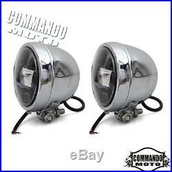 LED Spotlight Turn Signal Fog Bracket Light Lamp For Harley Touring Street Glide
