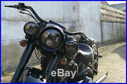 LED Zusatzscheinwerfer, schwarz, Harley Davidson, 4 Zoll, Dyna, Street Glide