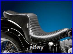 Le Pera Cherokee Seat Black Pleated 2 Up 18+ FXBB Harley Softail Street Bob