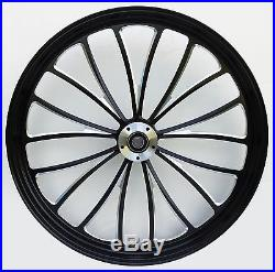 Manhattan Front Black Wheel 21 Harley Street Glide Flhx Electra Flhtc Ultra