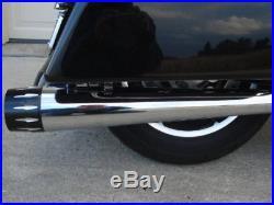Megaphone 4 Slip-on Muffler Set Harley Street Glide Flhx Touring Bagger 95-16