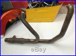 Modified Cat Removed 17-19 OEM Harley Street Glide Exhaust Header Stock Pipes2