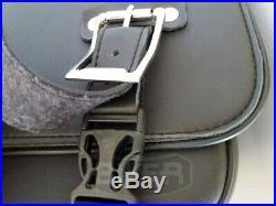 Mono Borsa singola laterale moto custom harley dyna street bob softail