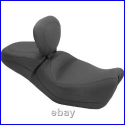 Mustang 1 Piece Touring Seat with Driver Backrest Harley Street XG 500 750 79786