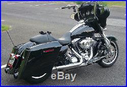 Mutazu Custom Black Stretched Side Covers Fits Harley Touring Road Glide Street