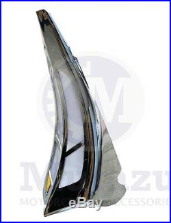 Mutazu Custom Chrome Chin Spoiler Scoop for Harley Road Street Electra Glide FLH