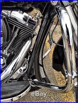 Mutazu Custom Vivid Black Chin Spoiler Scoop For Harley Road King Street Glide
