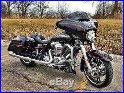 Mutazu Vivid Black Chin Spoiler Fits Harley Touring Road Glide Street King
