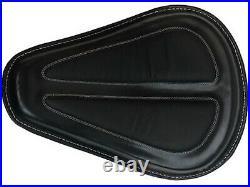 New Harley Davidson Spring Saddle Seat Black Leather 52000279 Dyna Super Glide
