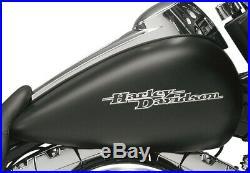 OEM Harley Touring Street Glide Black Gas Fuel Tank Emblems Set