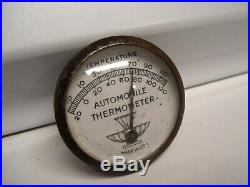Original 1940s Accessory Automobile vintage Thermometer scta GM Ford Chevy bombs