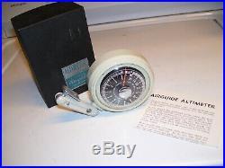 Original vintage 1950s Auto altimeter gauge barometer nos altitude part old car