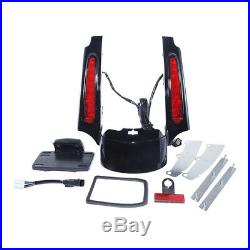 Rear Fender Extension Fascia With LED Light For Harley Touring Street Glide 09-13