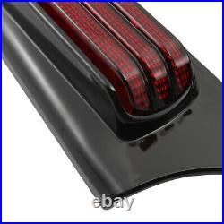 Red LED-Licht Heck kotflügel-Blenden Für Harley Electra Street Road Glide 14-20