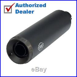 S&S Black 4 Grand National Slip-On Muffler Exhaust Pipe Harley Street 500/750