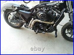 STAINLESS DRAG LAF RACING EXHAUST PIPES Harley Street XG500 XG750 LAF MUFFLER