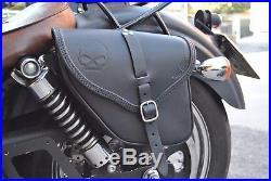 Saddle Bag For Harley Davidson Dyna Street Bob Wide Glide Best Italian Leather