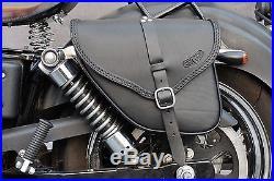 Saddle Bag For Harley Davidson Dyna Street Bob Wide Glide Italian Leather