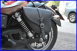 Saddle Bag Harley Davidson Dyna Street Bob Wide Glide Italian Quality Leather
