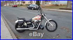 Saddle Bag Right Side For Harley Davidson Dyna Street Bob, Wide Glide, Fat Bob