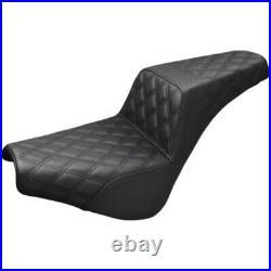 Saddlemen Black Step 2 Up Lattice Stitch Seat Harley Softail 18+ Street Bob FXST
