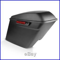 Seitenkoffer Stretched für Harley Davidson Street Glide FLHX 14-20 schwarz matt