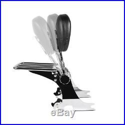 Sissy Bar mit Gepäckträger abnehmbar für Harley Dyna Street Bob 06-17 schwarz