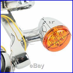Turn Signal LED Spot Fog Light Bracket Fit For Harley Street Electra Glide 14-19