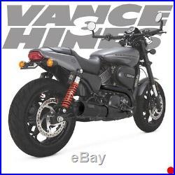Vance & Hines 47943 Black Hi Output 4 Slip-Ons Mufflers 15-19 Harley Street 750