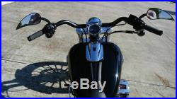 Wild One Chubbys Street Fighter Handlebars Black Harley 1.25 Dyna XL Softail