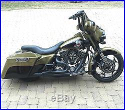 Yaffe Black 14 Monkey Handlebar Package 2008-2013 Harley Street Electra Glide