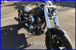 ZRide Gabelcover Harley Davidson Dyna Street Bob / Super Glide Schwarz Matt