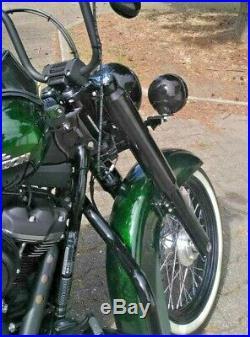 ZRide Gabelcover Harley Davidson Street Bob M8 FXBB ab 2018 Schwarz Glanz